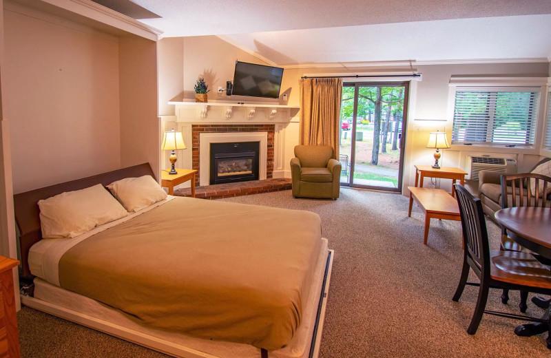 Guest room at Attitash Mountain Village Resort.