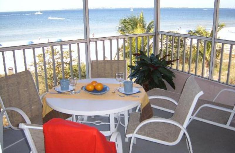 Balcony view at Abaco Beach Vacation Villas.