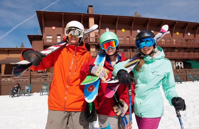 Ski group at Sugar Bowl Resort.