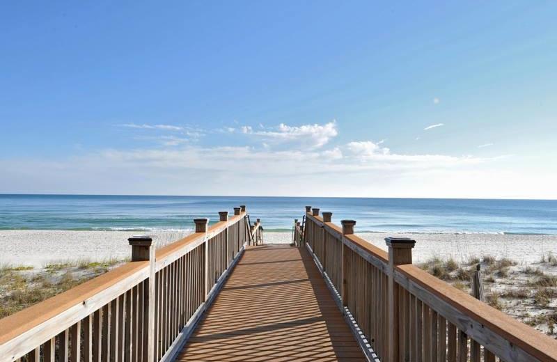 Boardwalk to beach at Palacio Perdido Key.