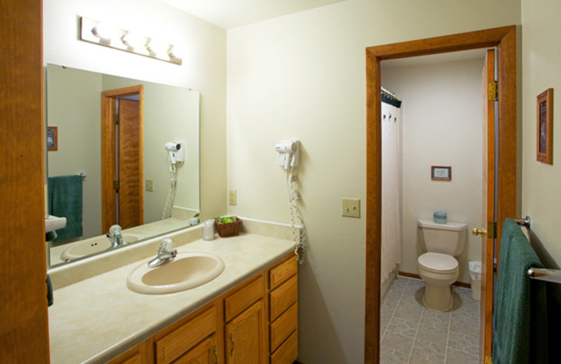 Bathroom view at Aspen Winds.