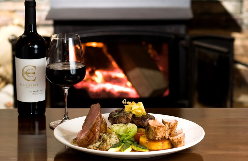 Dining at Cedar House Restaurant & Chalets.
