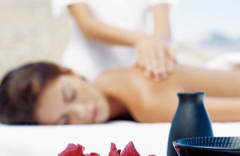 Spa massage at Hotel Riu Paradise Island.