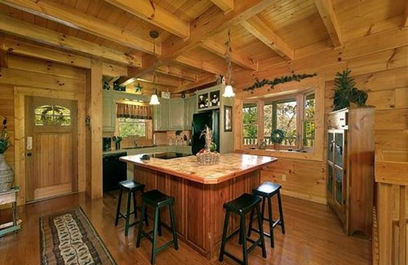 Rental kitchen at Smoky Mountains Vacation Cabins, LLC.