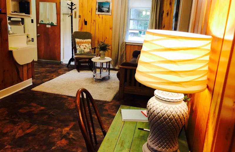 Cottage living room at Mission Springs Resort.