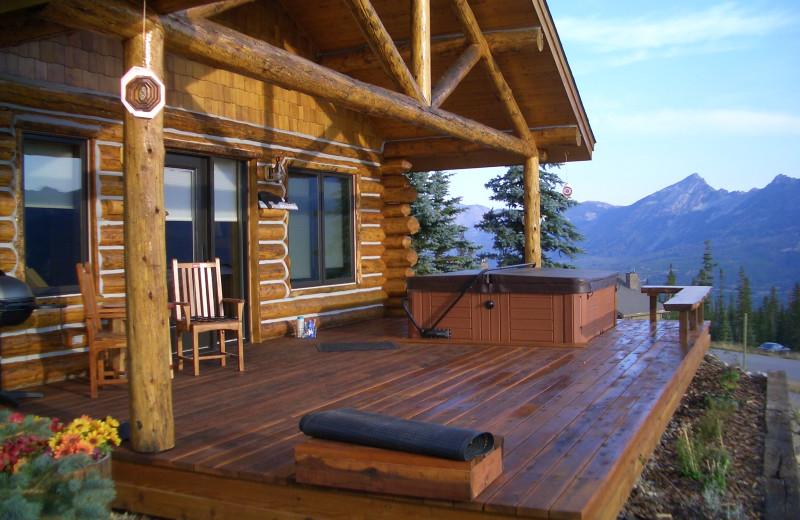 Rental porch at Big Sky Luxury Rentals.