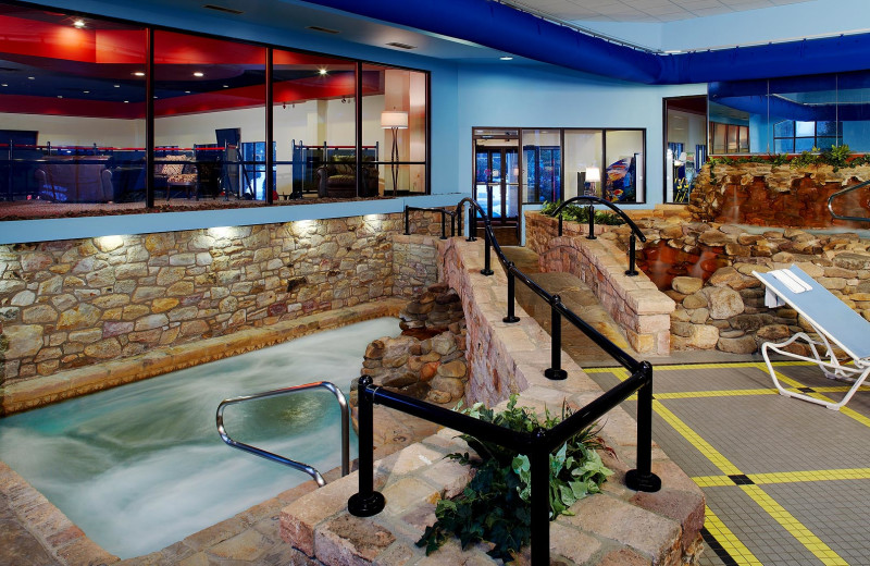 Indoor pool at Paradise Stream Resort in Mount Pocono, PA.