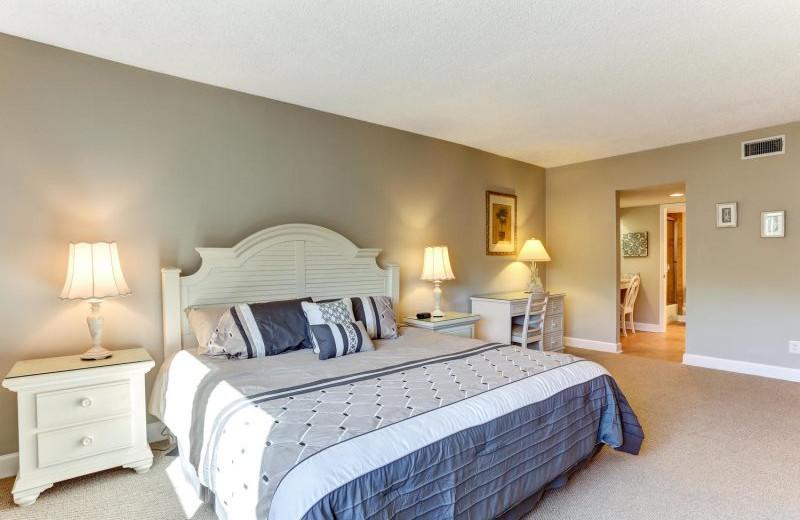 Rental bedroom at Amelia Rentals and Management Services.
