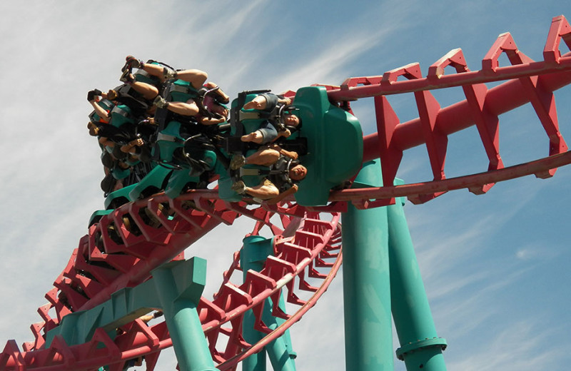Mind Eraser roller coaster at Darien Lake Resort.