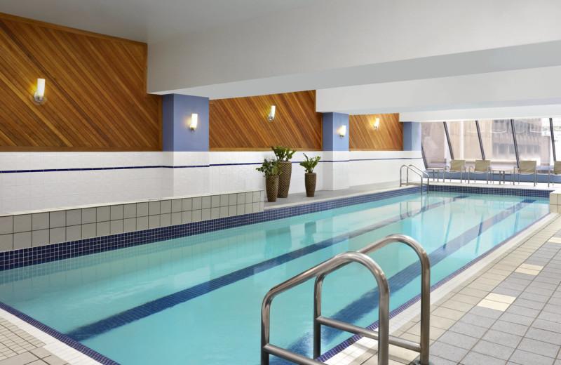 Indoor pool at Sheraton Ottawa Hotel.