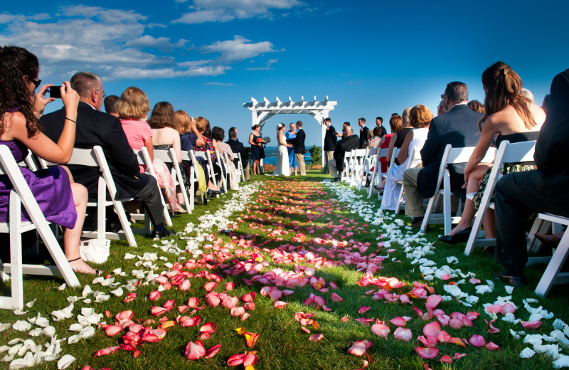Wedding Aisle at Point Lookout Resort and Conference Center