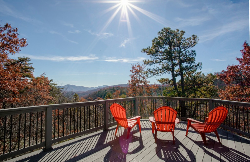 Rental deck at Yonder Luxury Vacation Rentals.