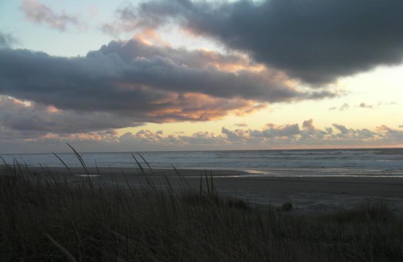 Sunset at Lighthouse Oceanfront Resort.