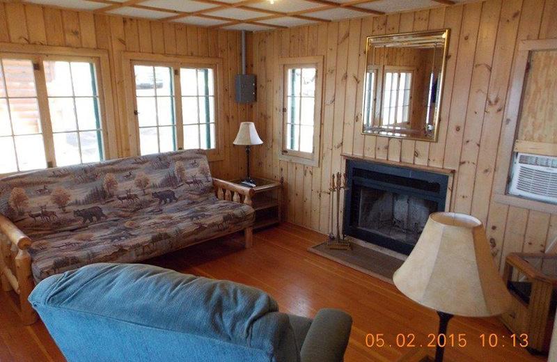 Cabin living room at Wilderness Resort Villas.
