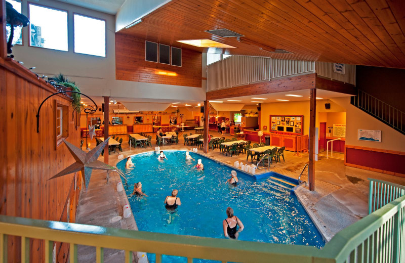 Indoor pool at Holiday Park Resort.