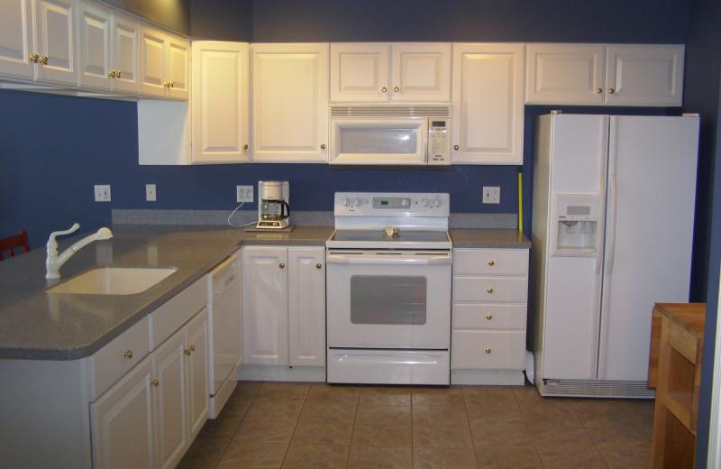 Condo kitchen at Big Bear Resort.