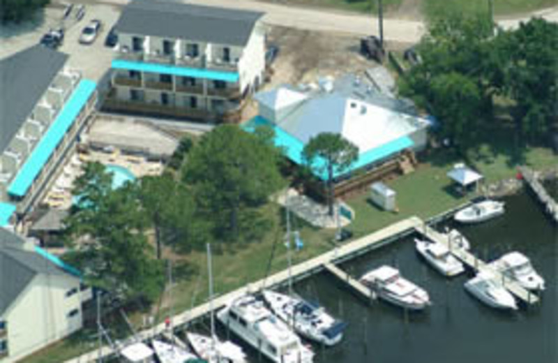 Aerial View of Oriental Marina and Inn