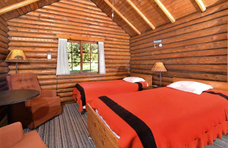 Guest room at Manotak Lodge.