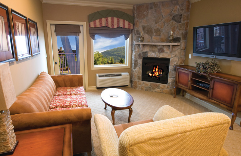 Guest living room at Crystal Springs Resort.