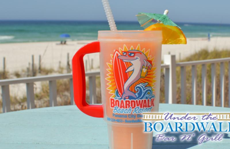 Refreshments at the beachfront restaurant - Boardwalk Beach Resort Hotel & Convention Center