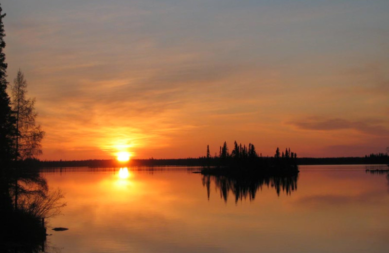 Sunset at Pine Point Lodge & Outposts.