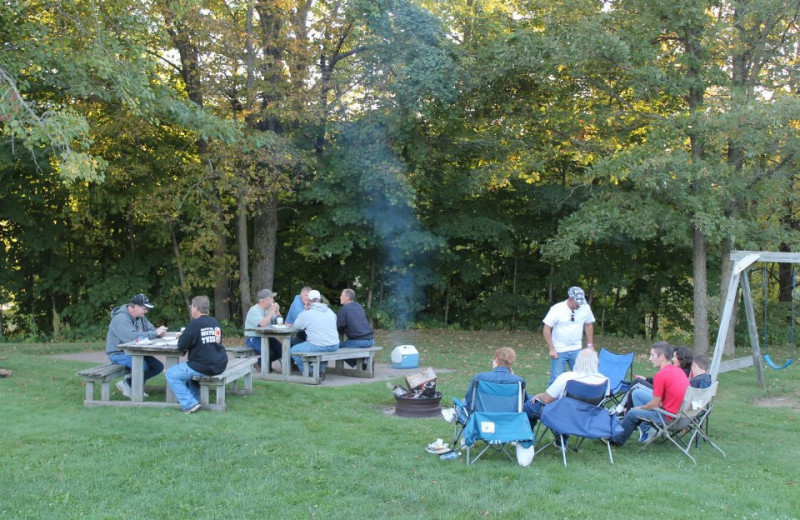 Camping at McQuoid's Inn & Event Center.