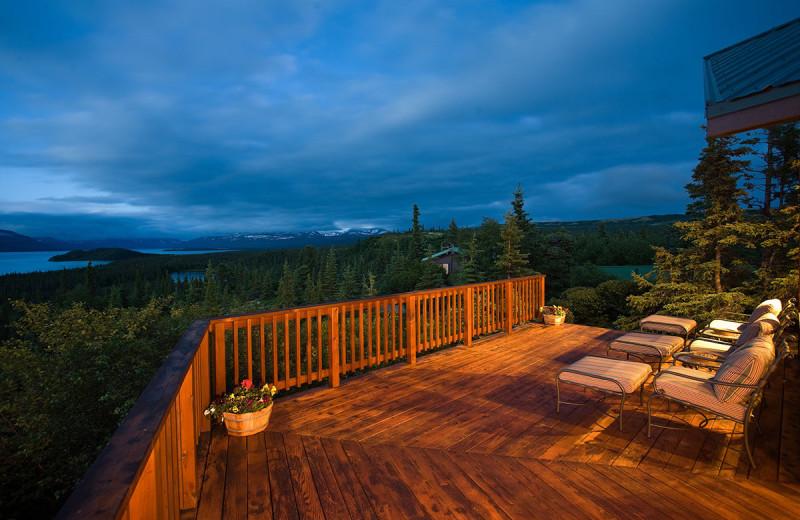 Patio at Enchanted Lake Lodge.