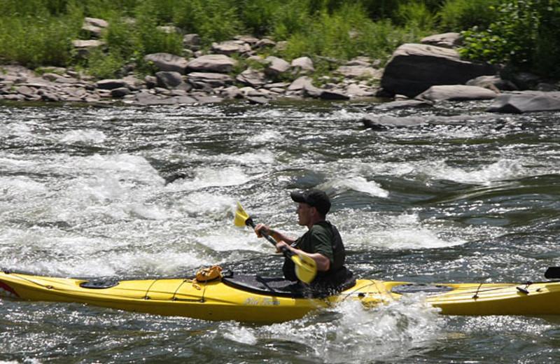 Kayaking at Ledges Hotel