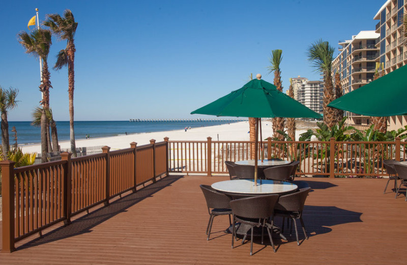 Patio at Holiday Inn Resort Panama City Beach.