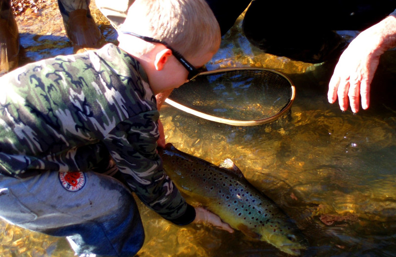 Fishing at River Ridge Inn.