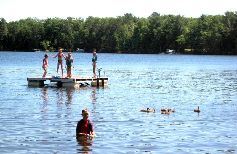 Water activities at Northland Lodge.