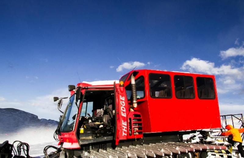 Snowcat tours at Grand Timber Lodge.