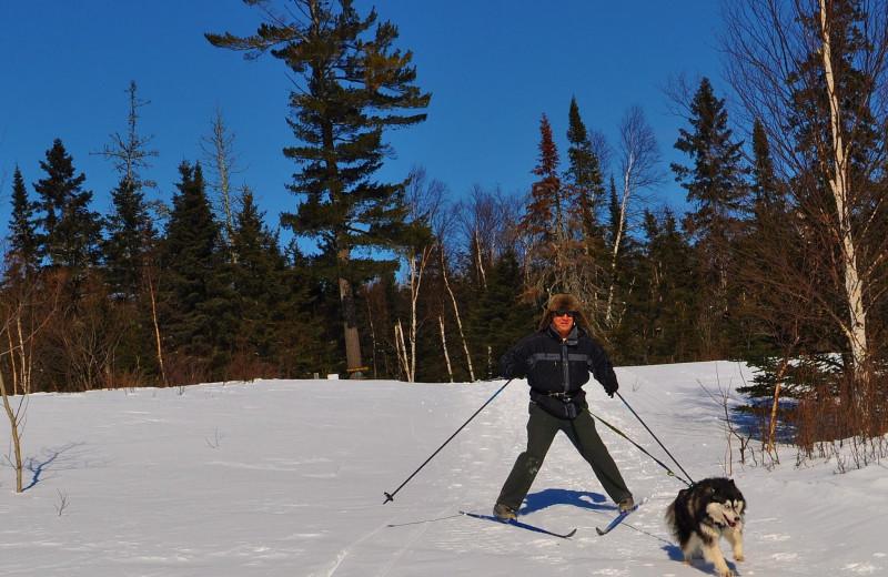 Skijoring at Solbakken Resort.