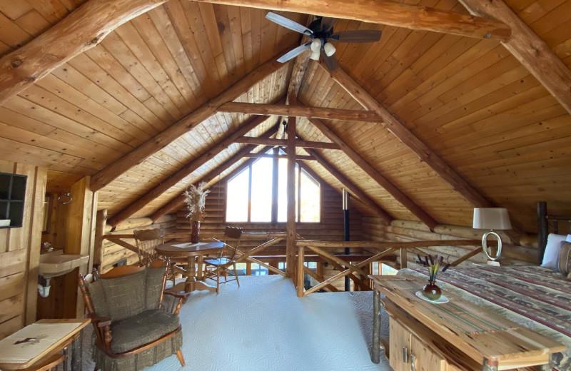Cabin interior at Lakewoods Resort.