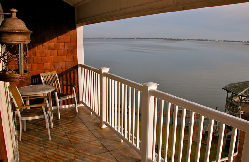 Guest balcony at Oasis Suites.