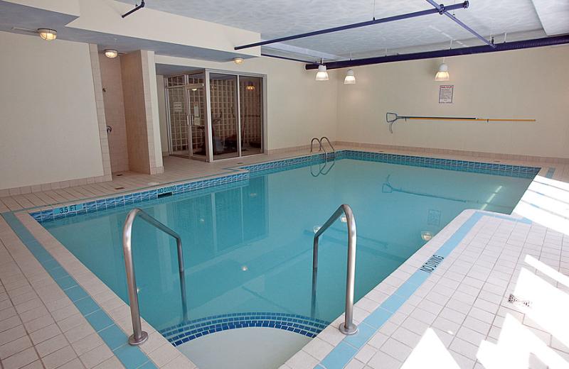 Indoor swimming pool at Harrison Beach Hotel.