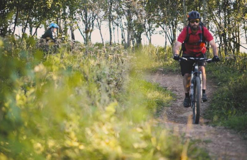 Biking near Beacon Pointe Resort.