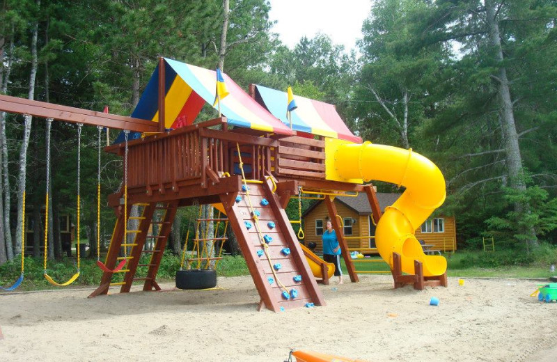 Kid's playground at Birch Forest Lodge.