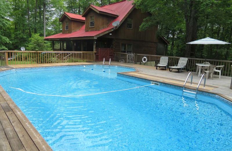 Rental pool at All-Season Cottage Rentals.