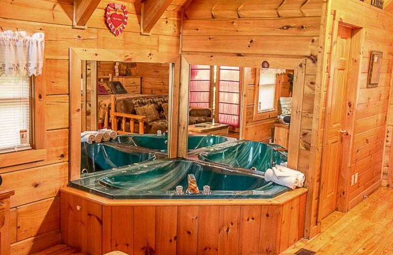 Cabin jacuzzi at Mountain Shadows Resort.