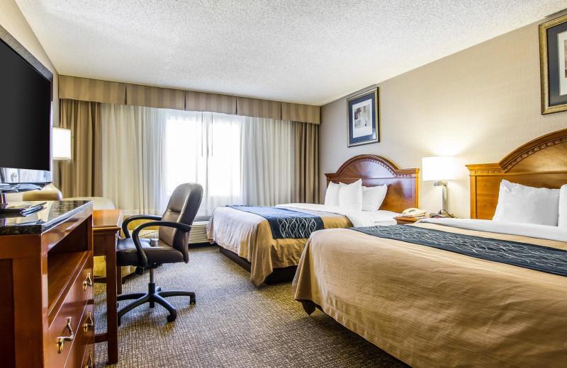 Guest room at Park Plaza Phoenix North.