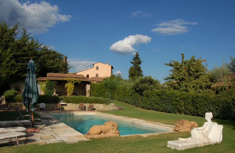 Outdoor pool at Canonica a Cerreto.