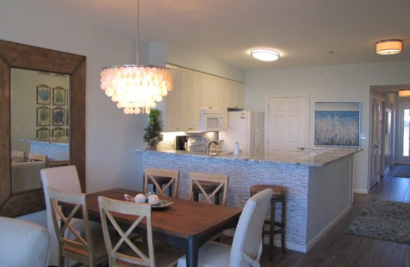Rental kitchen at Crystal Waters Vacations.
