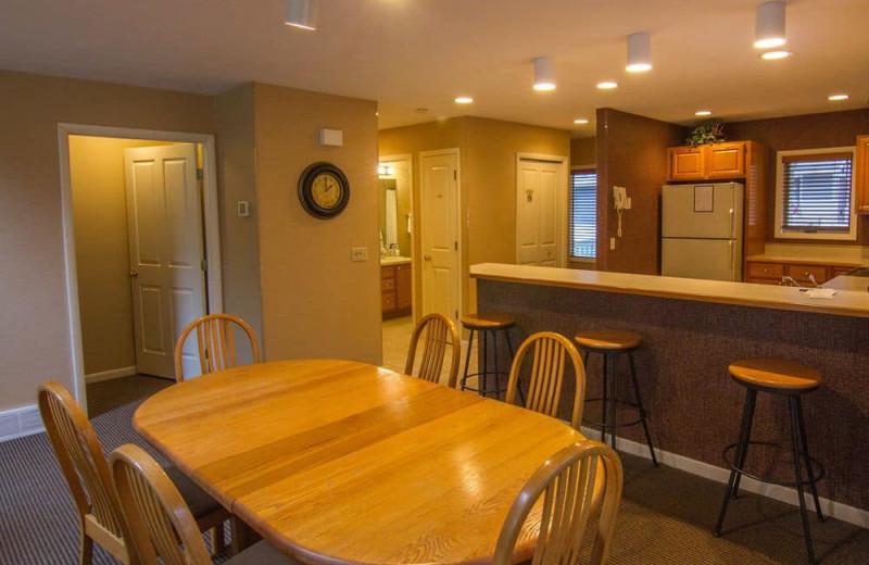 Guest kitchen at Crystal Mountain Resort and Spa.