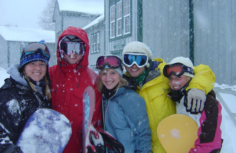 Ski group at McGuire's Resort.