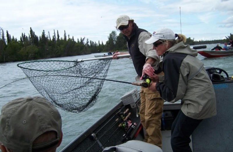Fishing at Great Alaska Adventure Lodge.