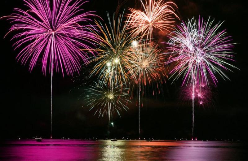 Fireworks at Silver Cloud Inn Tacoma.
