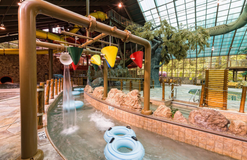 Indoor water park at Westgate Smoky Mountain Resort & Spa.
