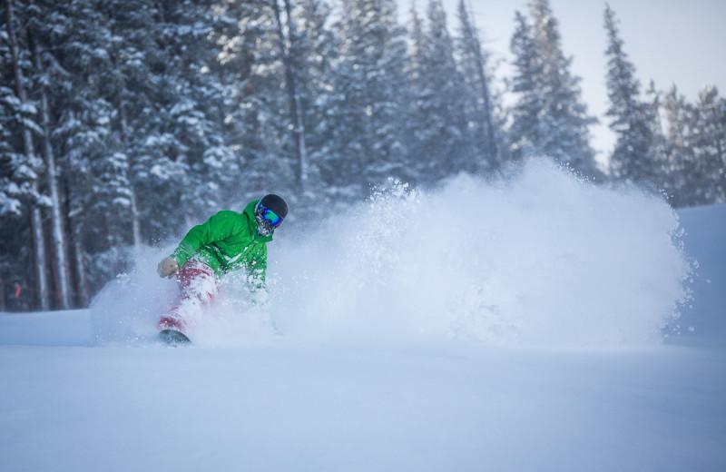Skiing at BlueSky Breckenridge.