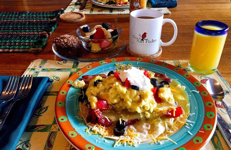 Breakfast at San Pedro River Inn.